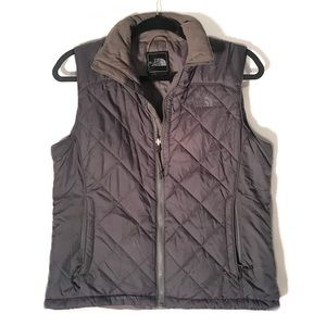 The North Face gray puffy vest